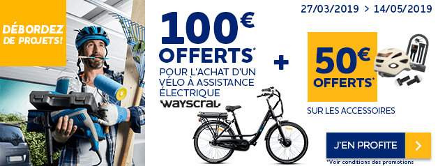 20010f2a7fb Offre VAE Wayscral 100€ remise + 50€ accessoires offerts