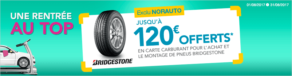 promo pneu bridgestone offre et promo bridgestone norauto. Black Bedroom Furniture Sets. Home Design Ideas